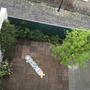 Une vue sympathique de la terrasse d'Openoox